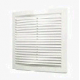 Решетка вент. 150х150мм белый пластик 1515РЦ (Эра) с москитной сеткой