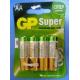 Батарейка GP SUPER 15А/тип АА (упак 4шт) (10)