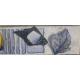 Бордюр Толедо В голубой 200х55мм  (30)