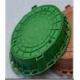 Люк полимерный круглый ЗЕЛЕНЫЙ  (до 100кг) (40)