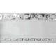 Карниз 3-х рядный Ажур 7см (хром)  3.2м