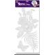 Наклейки для интерьера Зеркальный цветок с бабочкой 5513 RDA
