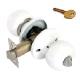 Защелка белая Аллюр-5560 WW ключ + фиксатор (30)
