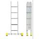 Лестница-трансформер 2 секции по 4 ступени+2 секции по 5 ступеней