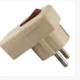 Вилка угловая с/з с выключателем белая 16А 250В SQ1806-0009 (TDM) (24)