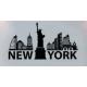 Наклейки для интерьера Нью-Йорк 88х57 см