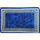 Коврик для ванной комнаты 40х60см синий (10)