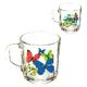 Кружка стекло 200мл Green Tea Танец бабочек микс (20)
