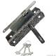 Замок врезной с ручками Avers-ЗВ9-4-1-4 серебро (10)