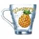 Кружка стекло 250мл Грация-Полезный ананас (20)