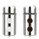Набор для специй,LR08-11 LARA , 2 предмета (сталь): солонка 1х80мл, перечница 1х80мл