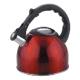 Чайник из нерж. стали MAL-042-R, 2,5 литра, красный, со свистком 910090
